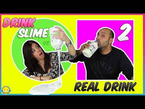DriNk SliME vs Real DrinK 2!! BeBidA Real vs BeBIda de SLIME 2!! MoMenToS DiVeRtiDoS
