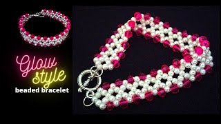 DIY Gorgeous Beaded Bracelet . Simple And Elegant Beading Pattern. Beading Jewelry Making