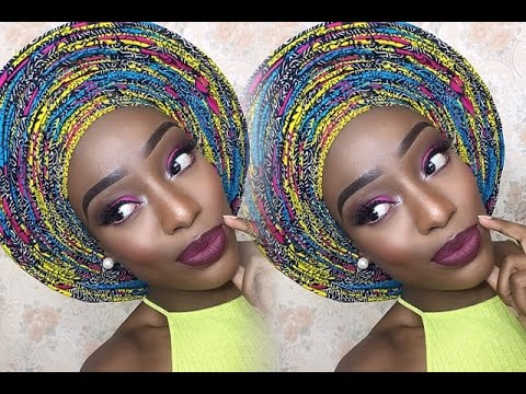 6 Yards Infinity Pleats! Ankara Gele Tutorial | Christiana's Closet