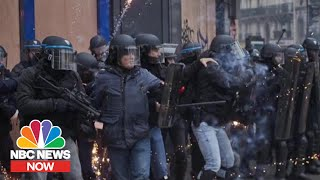 Why France Is Violently Protesting Over Pension Plan Reform | NBC News Now