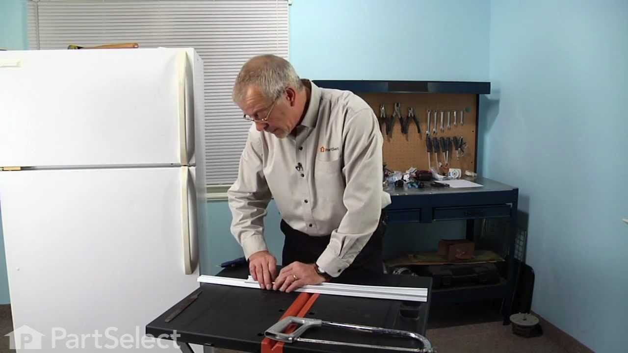 Replacing your Frigidaire Refrigerator Door Shelf Retainer Bar - Cut to Fit
