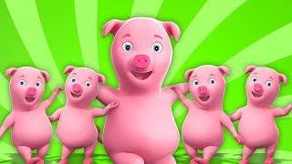 ห้า Piggies น้อย | เพลงสำหรับเด็กเล็ก | เด็กสัมผัส | Five Little Piggies | Preschool Song For Kids