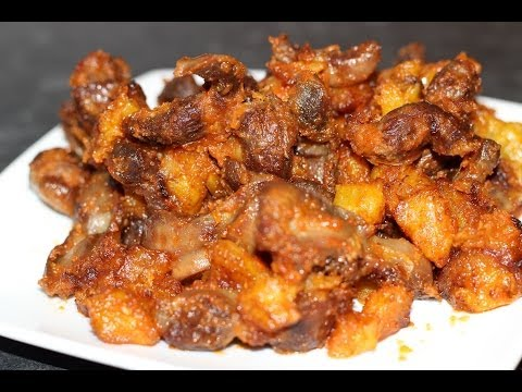 How to make Plantain and Gizzard | Gizdodo | Nigerian food