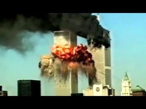9.11 テロ 航空機突入しタワー崩壊  あー窓から人落下 !!