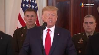 Trump: Niciun american nu a fost rănit de atacurile cu rachete aeriene ale Iranului