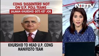 Congress Dissenters Not On UP Poll Teams, Salman Khurshid Gets Key Job