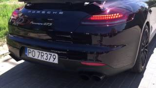 Porsche Panamera GTS (facelift 2016) exhaust sound - Road Tour Sopot