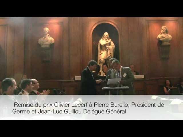 Germe reçoit le prix de la Fondation Olivier Lecerf pour un management humaniste