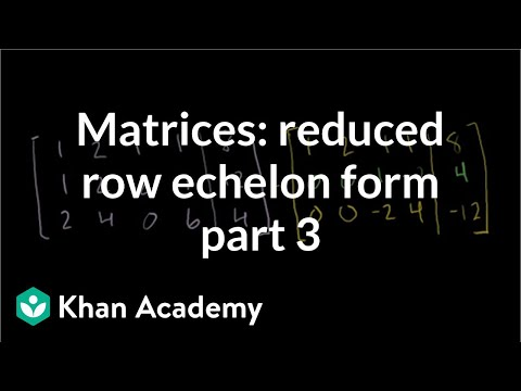 Using matrix row-echelon form in order to show a linear system has ...