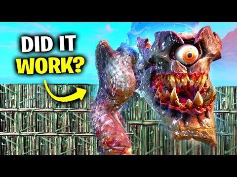 i tried stopping monster vs robot live event fortnite