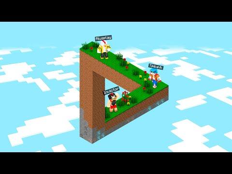 ¿Puedes sobrevivir a esta ILUSIÓN ÓPTICA en MINECRAFT? 🤯😱 Invictor Mapa Minecraft