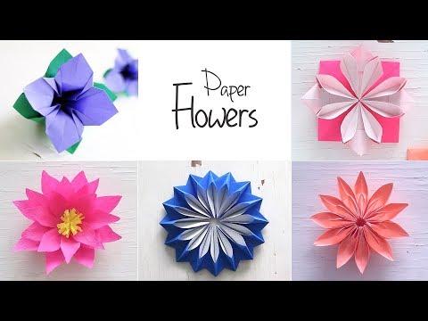 6 easy diy paper flowers flower making ventuno art video easy paper flowers flower making diy mightylinksfo