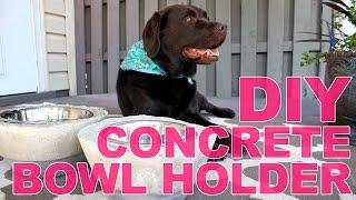 How to Make a Concrete Dog Bowl Holder