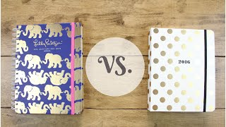 Lilly Pulitzer VS. Kate Spade Planner