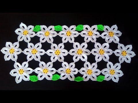 Centrino Uncinetto Facile Tutorial Doily Crochet Centro De Mesa