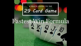 How to Win a Card Game | Fastest 29 Card Game ! Technique Learning For 29 Easy Win