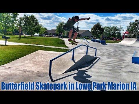Butterfield Skatepark in Lowe Park Marion IA
