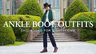 Ankle Boot Outfits | What To Wear Sightseeing & How To Shop For Ankle Boots