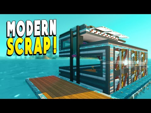 Modern Scrap House Turns Base From Bleak to CHIC! - Scrap Mechanic Survival EP 24