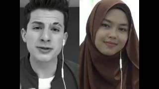 Gambar cover One Call Away - Charlie Puth & Sheryl Shazwanie (duet on Smule app)