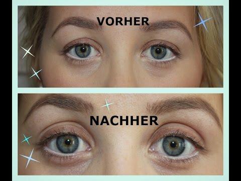 Das Alters-Make-Up, wie die Säcke unter den Augen zu verbergen