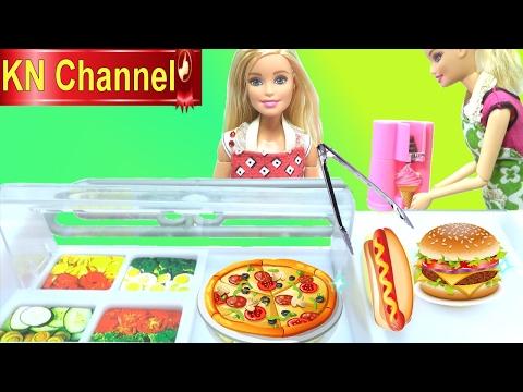 Hình ảnh Youtube -  Đồ chơi nấu ăn SỰ CỐ TẠI CỬA HÀNG THỨC ĂN NHANH VÀ KEM barbie doll & baby doll