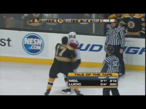 Chris Neil vs Milan Lucic