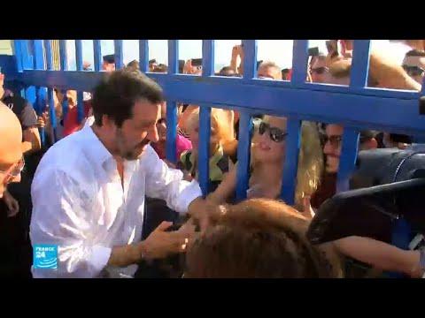 العرب اليوم - شاهد:وزير الداخلية الإيطالي يؤكّد تبني سياسة صارمة بشأن الهجرة