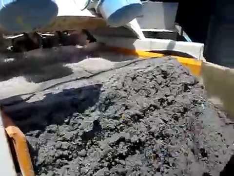 Dewatered sand on EvoWash