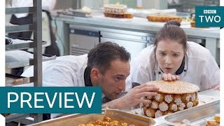Cake construction - Bake Off Creme de la Creme: Series 2 Episode 5 Preview -
