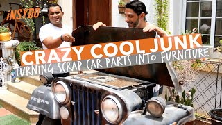 Trash To Treasure: Turning Junk Car Parts Into Funky Furniture