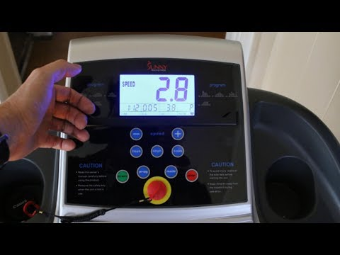How To Use Sunny Health & Fitness SF-T4400 Treadmill