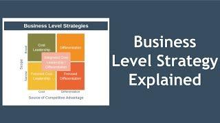 Business Level Strategy Explained