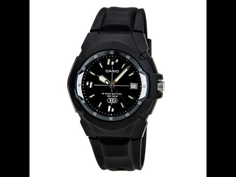 Casio MW600F-1A Men's Casual Classic Sport Black Dial Black Resin Strap Watch Review Video