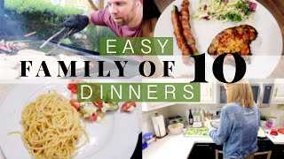 BIG FAMILY MEAL IDEAS!  \ Cook With Us For Our Large Family Of 10