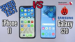 Samsung Galaxy S20 VS Apple iPhone 11 - SPEED TEST