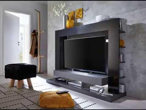 Medienwand Fernsehschrank TTX05 schwarz Hochglanz