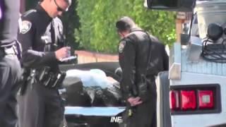 Chris Brown Car Crash Aftermath