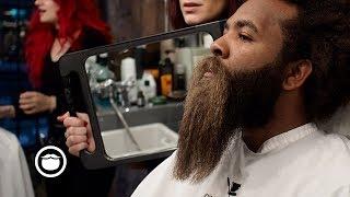 Massive Black Curly Beard Gets Trimmed | ASMR