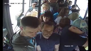 Нервная работа водителя. Бык в Липецком автобусе.