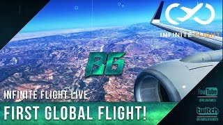 Infinite Flight Live - GLOBAL FIRST FLIGHT!! (KSAN-KSFO-KRNO)