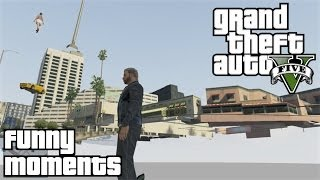 GTA 5 Online Funny Moments - Invisible Truck Glitch and Running Funny