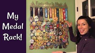 My Medal Rack: Hanging 70 RunDisney Medals!