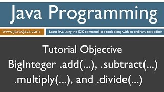 Learn Java Programming - BigInteger Basic Math Methods