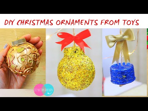 DIY Christmas Ornaments from Toys