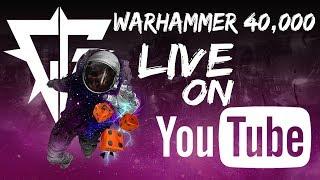 Live Warhammer 40k Apocalypse Battle Report! Orks & Chaos vs Dark Angels 200 Power Level per side!