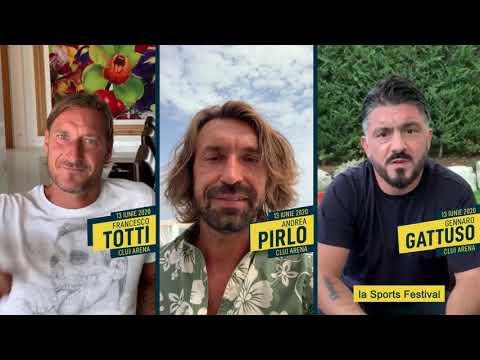 TOTTI, PIRLO SI GATTUSO la Sports Festival 2020