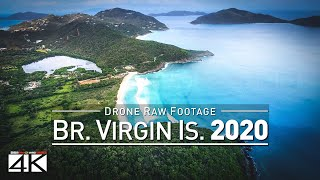 【4K】Drone RAW Footage | These Are The BRITISH VIRGIN ISLANDS 2020 | BVI Tortola UltraHD Stock Video
