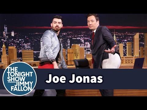 Joe Jonas Teaches Jimmy How to Model Guess Underwear