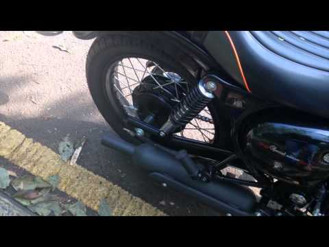 Kawasaki Estrella 250, stock exhaust sound and test ride